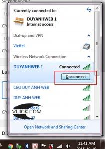 Ngắt kết nối mạng internet