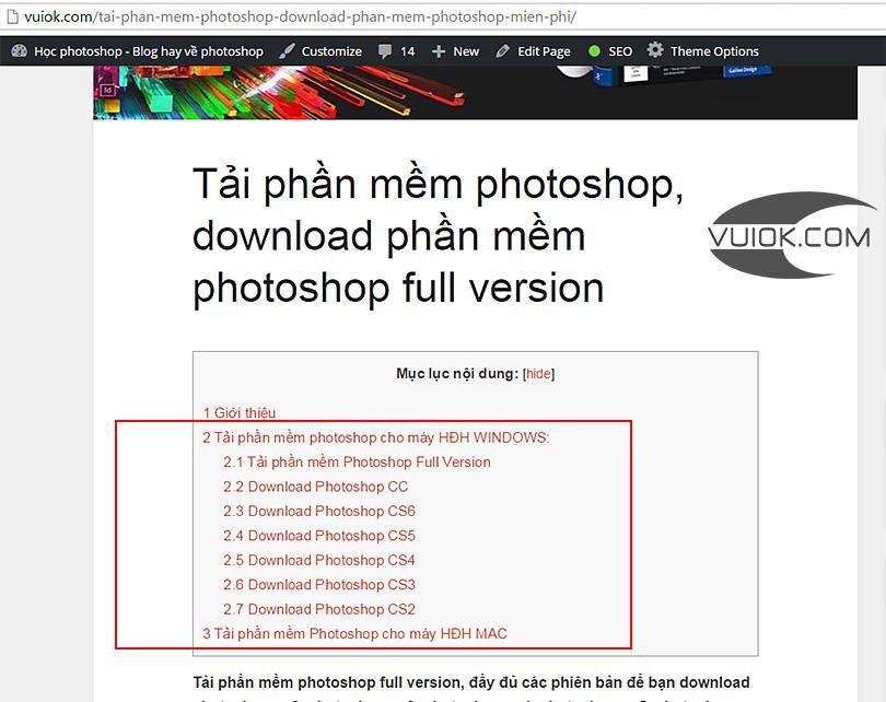Tải phần mềm photoshop