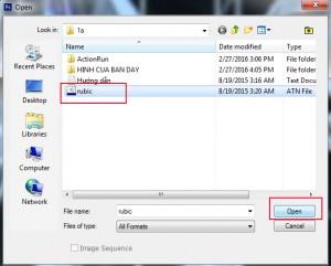 tìm mở file rubic trong folder 1a