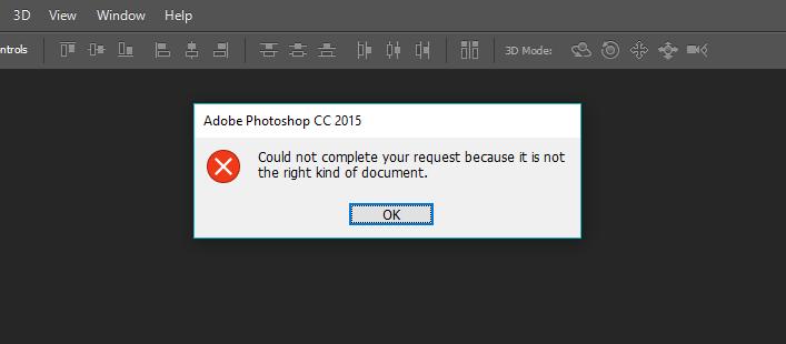 lỗi khi mở ảnh bằng photoshop