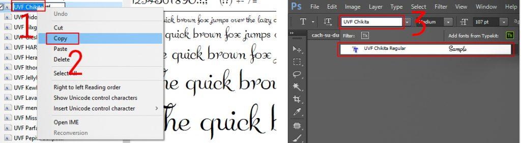 cách sử dụng font chữ trong photoshop