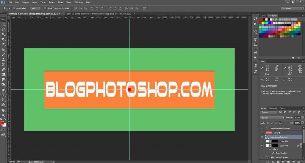cách sử dụng move tool trong photoshop