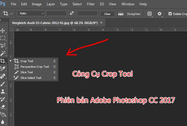cong cu crop tool cat ghep anh trong photoshop