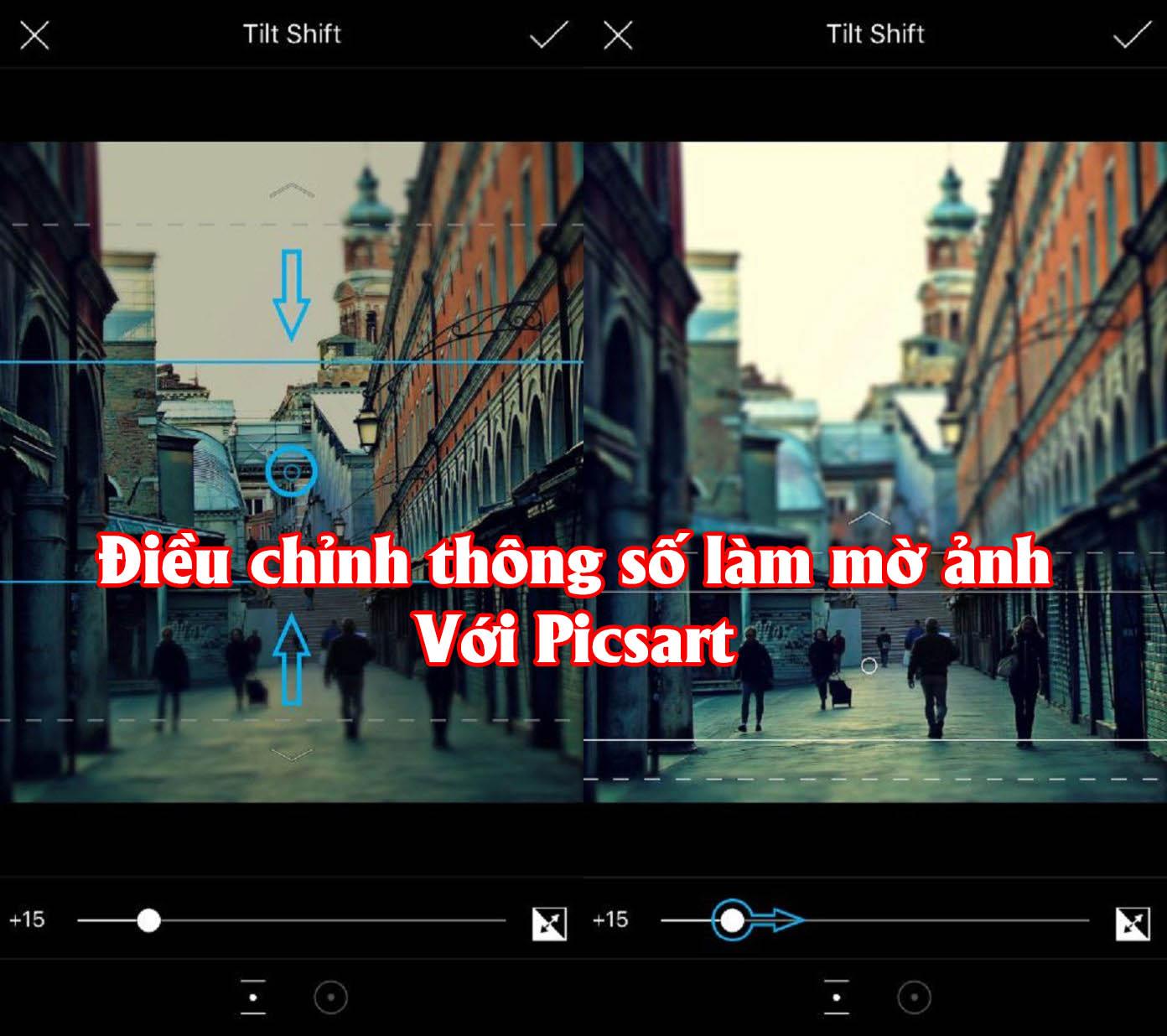 dieu chinh thong so lam mo hau canh voi picsart